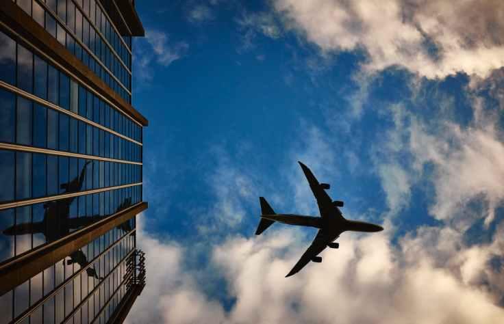 plane airport airplane sky